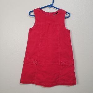 🍁BABY GAP Pink Corduroy Dress Size 4 years